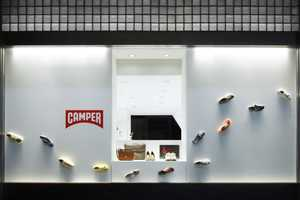 The Camper Osaka Shop by Nendo Features Floating Footwear