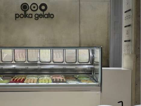 Industrial Ice Cream Shops - Polka Gelato by Vonsung Features a Cool Concrete Design