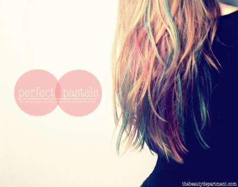 DIY Highlighter-Hued Tresses - Lauren Conrad Inspires the Kandee Johnson Hair Chalking Video