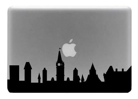 macbook decal vinyl skyline ipad cityscape