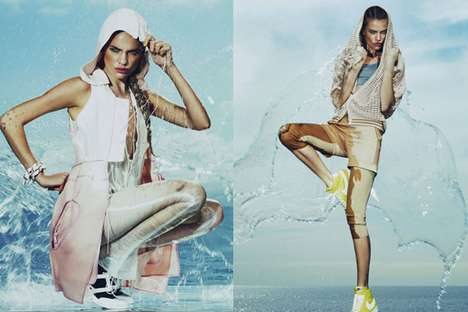 Splashy Sporty Shoots - The Regina Feoktistova How To Spend It Editorial is Playfully Watery