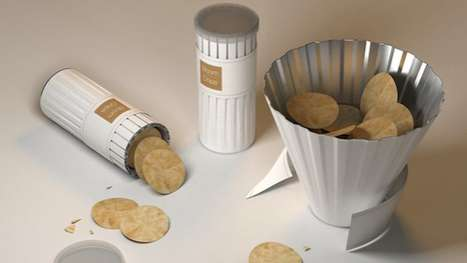 Utilitarian Snack Packaging - The 'Bloom Chips' Design Doubles as a Bowl