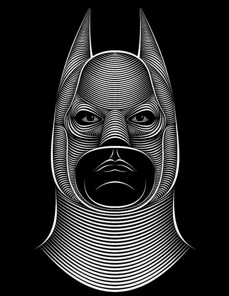 Zebra-Patterned Portraits - Patrick Seymour Renders Faces with Black & White Stripes