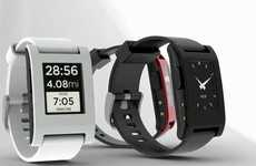 Multi-Functional Smartphone Timepieces - The Pebble 'e-Paper' Watch Has to Be from the Future