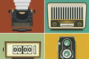 These Justin Mezzell Graphics are Vintage-Hued and Engaging