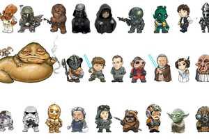 Joe Wight Renders Cartoon Star Wars Characters to Represent Letters