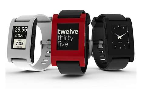Smartphone-Controlled Timepieces  - Receive Mobile Notifications On-the-Go with the Pebble Watch