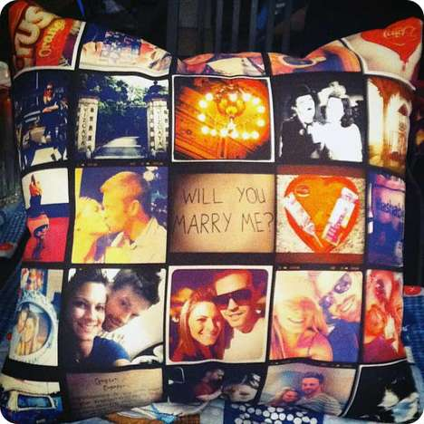 Instagram Throw Pillows - 'Stitchtagram' Creates Handmade Memories