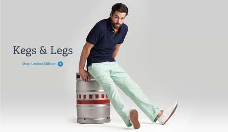 Beer Bottle Jeans - The Bonobos Earth Day Denim Style Pants are Made From Recycled Plastic