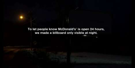 mcdonalds reflective billboard