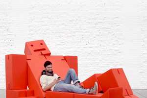 The David Weeks Cubebot Couch is a Lifesize Action-Figure