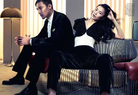 Troubled Couple Captures - The Liu Wen for Vogue China Photoshoot is Simple and Chic