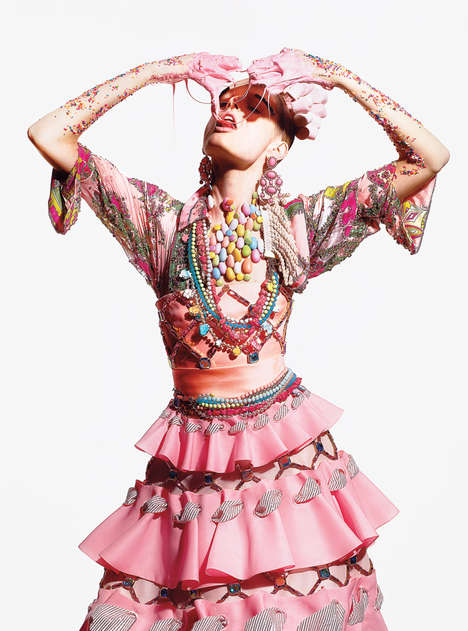 Sticky Food Fashion Photography - The Richard Burbridge for T Style Summer 2012 Shoot is Wild
