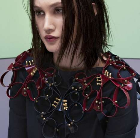 Brocaded Leather Accessories - The Una Burke FW 2012 Collection is Elegant and Ornate