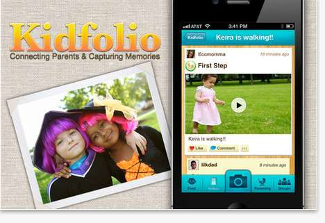 kidfolio digital scrapbook