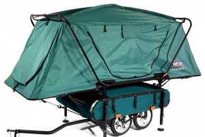 The Midget Bushtrekka Bike Trailer Provides Storage and Sleeping Space