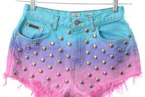 The Kaleidoscope Eyes Ombre Shorts are Incredibly Chic