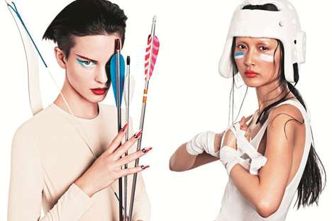 Olympic-Inspired Makeup Ads - The NK 'The Beauty Games' Campaign is Patriotically Sporty