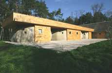 Bowling Ball Accomodations - The Friend House Ecohotel is Made Exclusively from Natural Materials