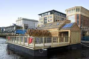 The Flow Floating Musical Watermill Runs on H20