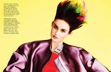 Spiked Ombre Editorials - The Flare Mad About Hue Photoshoot is Fierce and Fiery