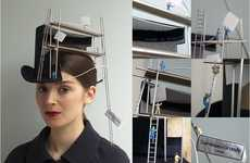 'Construction Overhead' Uses Traditional Millinery Materials