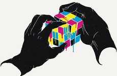 Melting Rubik's Cubes