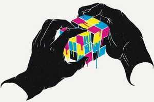 Geometric Hand Illustrations by Daniel Stolle Plays with Finger Paint
