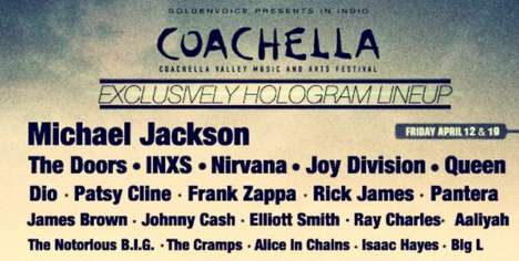 Dead Musician Hologram Concerts - The Coachella 2013 Lineup Brings Back Big Names