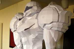 The 'Life Size Papercraft Samus Aran' is a Lifeless God