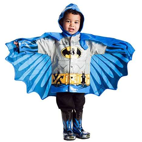 kids superhero raincoats