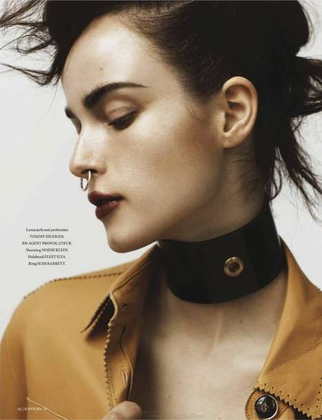 Fierce Facial Piercing Photoshoots - The Anna de Rijk L'Officiel Netherlands Editorial Shoot is Dark