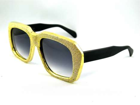 golden and diamond sunglasses