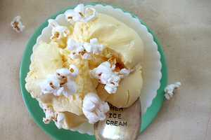 Buttered Popcorn Ice Cream Delivers the Flavor of the Theatre