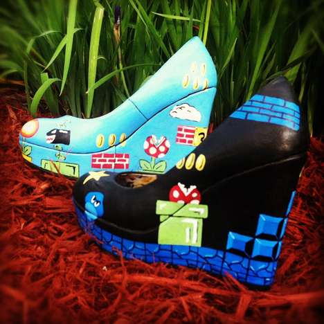 super mario wedge heels