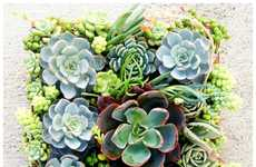 Bold Blooming Installations - Vertical Succulent Wall Art Brings the Garden Aesthetic Inside