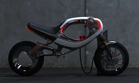 Futuristic Electric Motorcycles - The 'frog eBike 2012' is Straight Out of TRON
