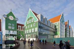 The Zaanstad City Hall Exterior is Artful and Fun