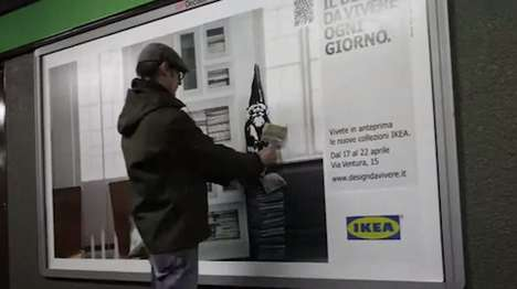 graffiti ikea ads