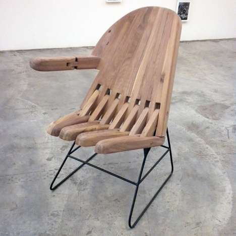 Sign Language Armchairs - Rompecabezas by Pedro Reyes are Seats with Hand Gestures