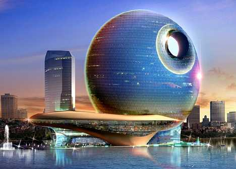 Death Star Inspired Hotel - Full Moon in Azerbaijan