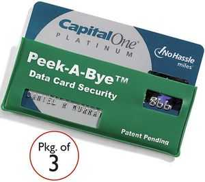 Protecting Your Plastic - Credit Card Sleeve Hides Number