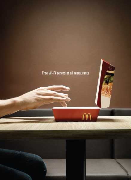 2 Creative McDonald's Ads - WiFi + 24/7 Drive Thru