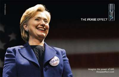 Political Parody Ads - Axe's Hillary Clinton Spoof