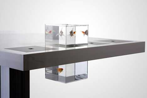 Aquarium Desk - Milk iAltar