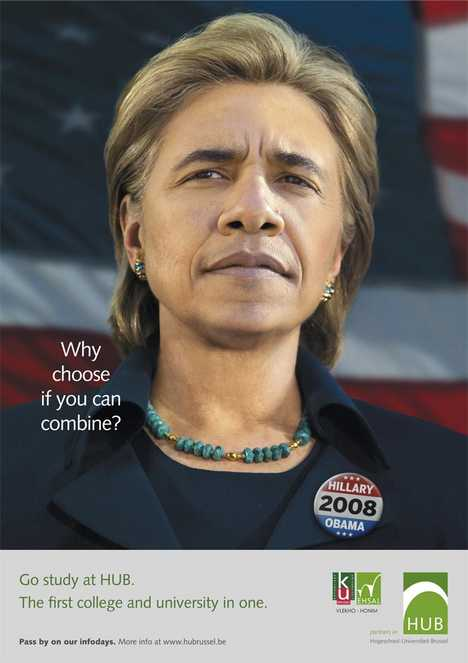 "Political Shockvertising - ""Hillary Obama"" to Promote University"