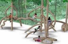 Tree Shaping - Plantware Playgrounds Made of Trees