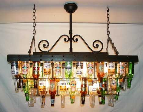 Recycling Bottles Into Macho Lighting
