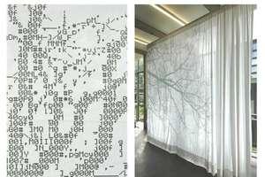 ASCII Computer Code Curtains