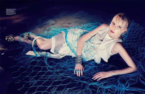 Fished Mermaid Editorials - The Harper's Bazaar Singapore Showcases Sea-Siren Sensual
